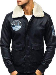 chaqueta de cuero sintético para hombre