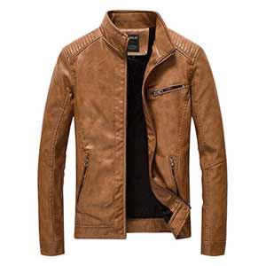 chaqueta de cuero sintetico