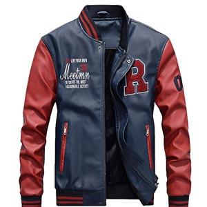 chaqueta de cuero sintico -chaqueta beisbol