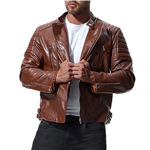 chaquetas de cuero hombre baratas