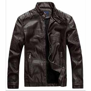 Chaqueta de cuero imitacion para hombre, chaquetas de cuero para hombre baratas