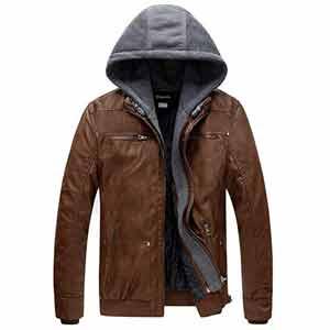 chaqueta de piel impermeable para hombre
