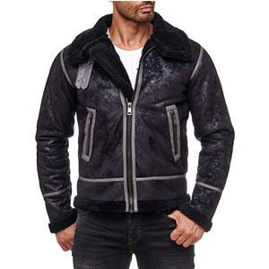 chaquetas cuero sintetico para hombre