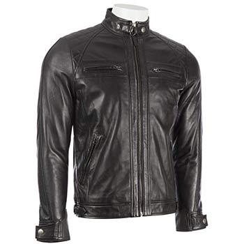 chaqueta de cuero negra hombre