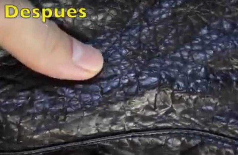 cuello chaqueta polipiel reparado