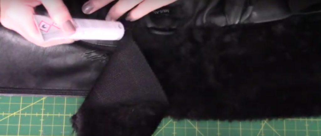 como cambiar el cuello de una chaqueta polipeil o campera de cuero